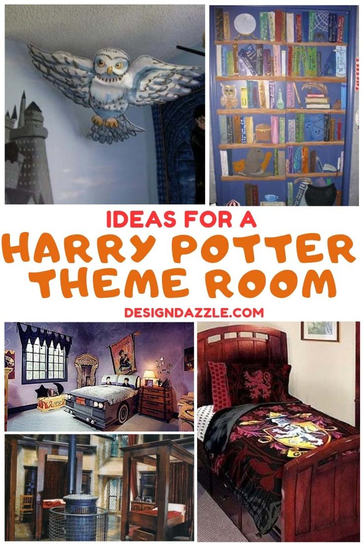 Looking for Harry Potter themed bedroom ideas for your kids? We've have collected the best ideas that will make you feel you're a great wizard of Hogwarts! Check them out! - Design Dazzle