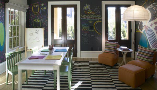 Playroom Chalkboard Walls