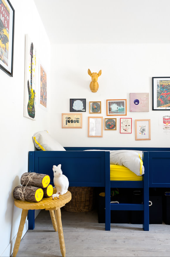 LOVE these eclectic kids rooms!