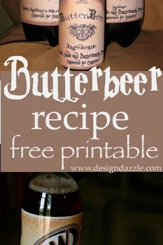 Harry Potter Butterbeer Free Printable
