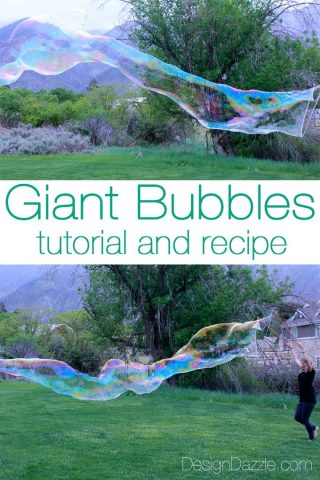 Learn how to make giant bubbles - tutorial and recipe! | Design Dazzle
