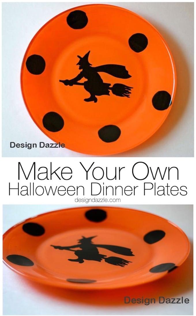 Design Dazzle: Make Your Own Halloween Plates