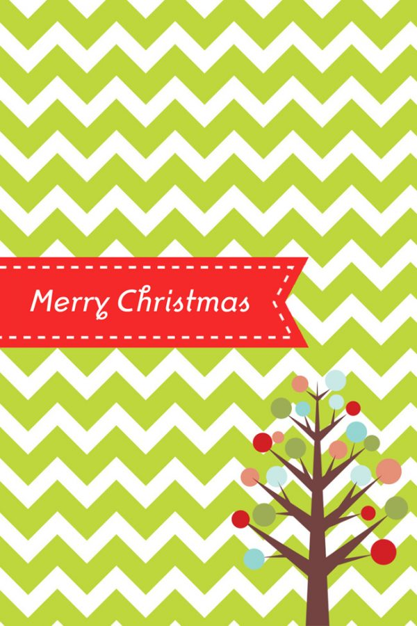 Modern Christmas Printable featured on Design Dazzle