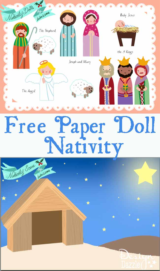 Free Nativity Paper Doll printables - Design Dazzle