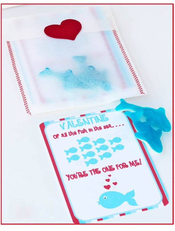 Free Valentine - Of all the fish in the sea you're the one for me! Design Dazzle