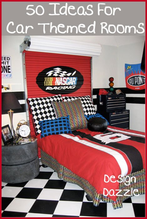 50 Ideas For Car Themed Rooms Featured On Design Dazzle Nascar At Its Finest