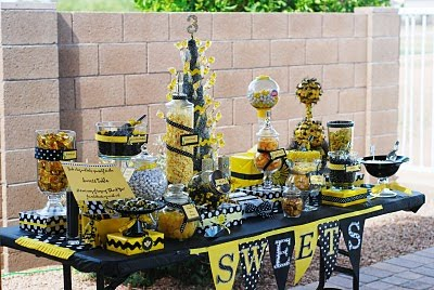 Bumble bee birthday party design dazzle for Bee decorations for the home