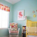 Yellow, Aqua & Red Baby Nursery!