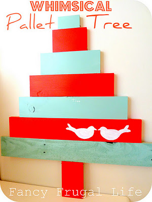 Whimsical Pallet Tree featured on Design Dazzle