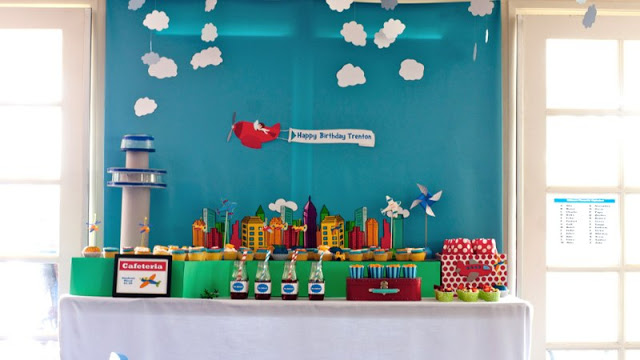 Flight Academy Birthday Party by Lisa of Sweet Pop Studio! High Flying Fun for little pilots that will only bring smiles to faces!