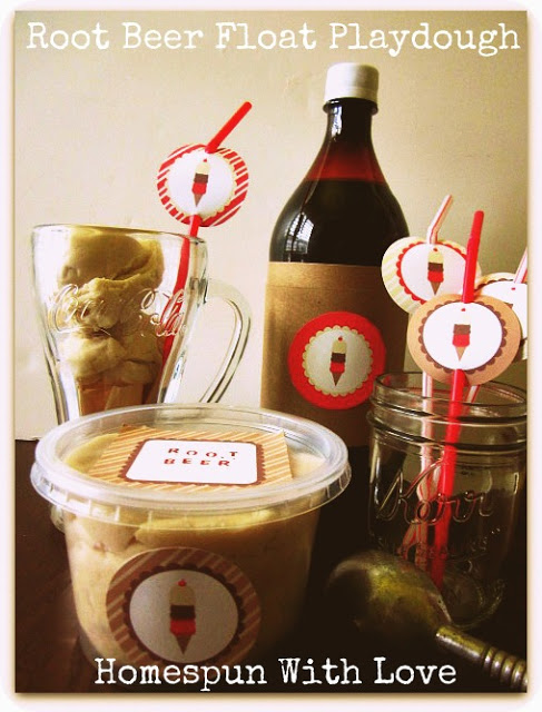 Root Beer Float Playdough! Kids will love this great summer time activity!