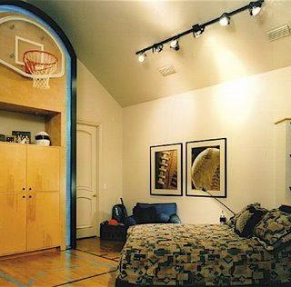 Teen Basketball Court Bedroom