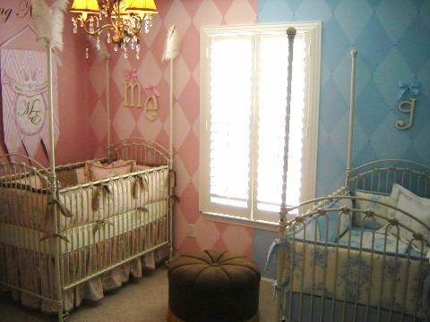 Baby Nursery Girl Boy Twins Design Dazzle