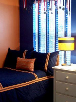 Below: A Room Painted Benjamin Moore Calypso Orange From Domino