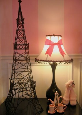 pink poodles and Paris girls room - Design Dazzle