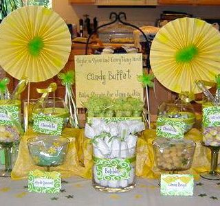 Lemon & Lime Baby Shower Candy Buffet