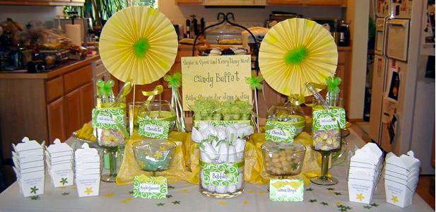 Lemon Lime Baby Shower Candy Buffet Design Dazzle
