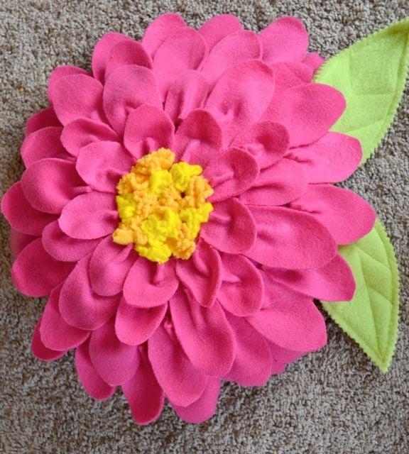Flower Power Fleece Fabric Pillow Design Dazzle