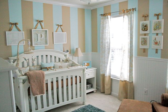 Baby Boy Nursery: Stripes & Toile - Design Dazzle