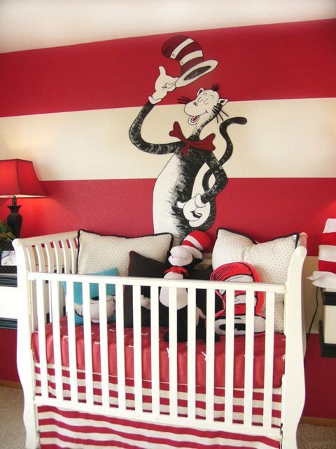 Cat In The Hat Room I Love Boldness Of Red And White Stripes Yet Really Simplicity Not A Lot Multi Colors
