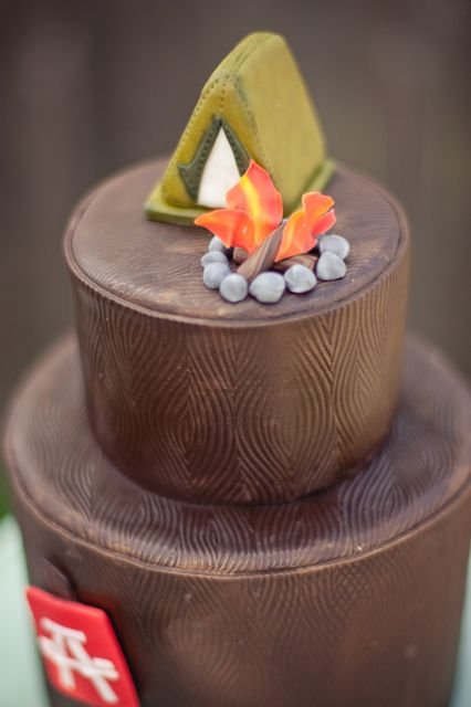 What A Clever Ideau2026a Camping Theme Baby Shower. All The Little Details Make  A Rustic Themed Party Such As U2013 Pine Cone Garland, Flannel Napkins, ...