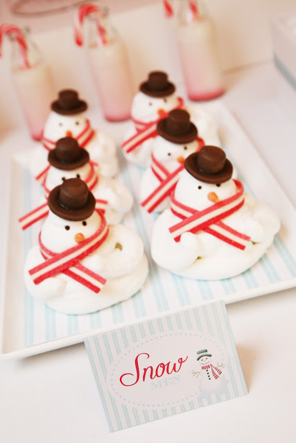 Snowmen on the candyland table featured on Design Dazzle