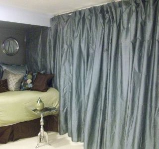 Great idea – curtain divider