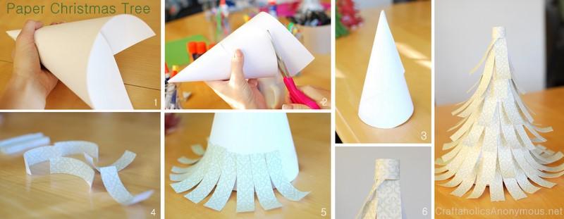 Diy Easy Paper Christmas Tree Design Dazzle