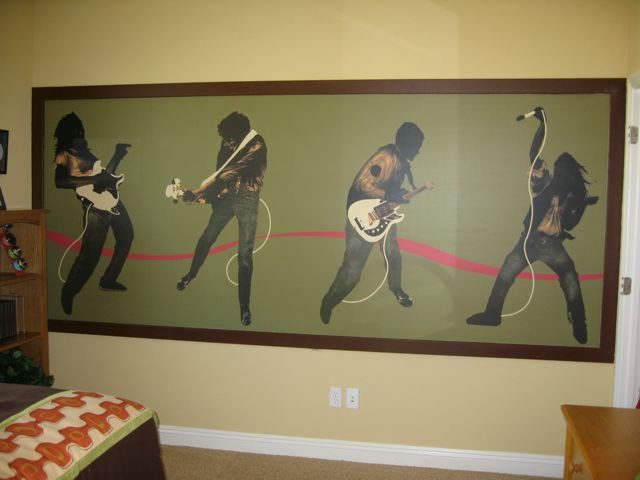 Rock N Roll Teen Boys Room