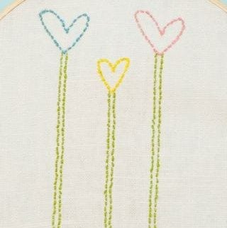 DIY Embroidery Kit Using The Cricut Machine!