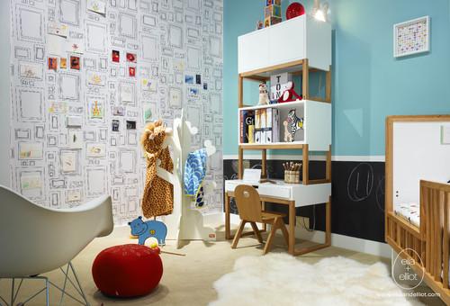 fun, modern toddler room - design dazzle