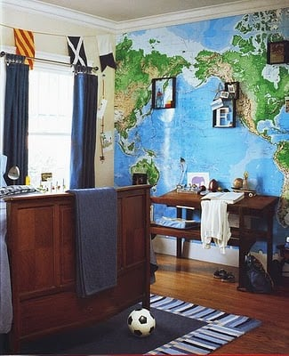 Decorating kids rooms with maps design dazzle for Room design map