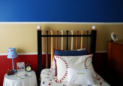 Great Use Of Color 3 Wide Stripes Red Blue And Tan