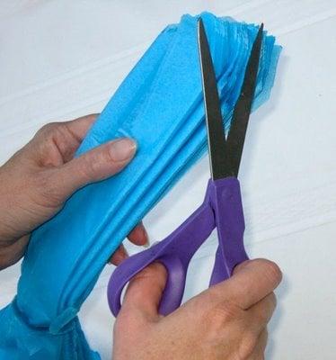 How to make pom pom tissue flowers