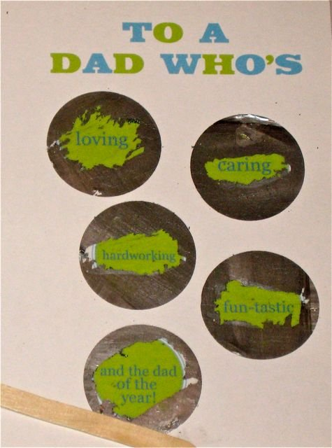 Make Your Own Quot Scratch Off Quot Fathers Day Card Design Dazzle