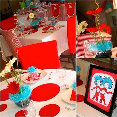Baby shower ideas dr seuss design dazzle for Baby shower decoration ideas for twins