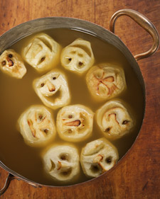 Cute Scary and Gross Halloween Edibles, shrunken heads, apples, cider