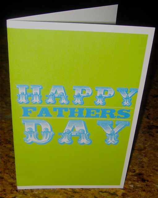 Scratch Off Father's Day card