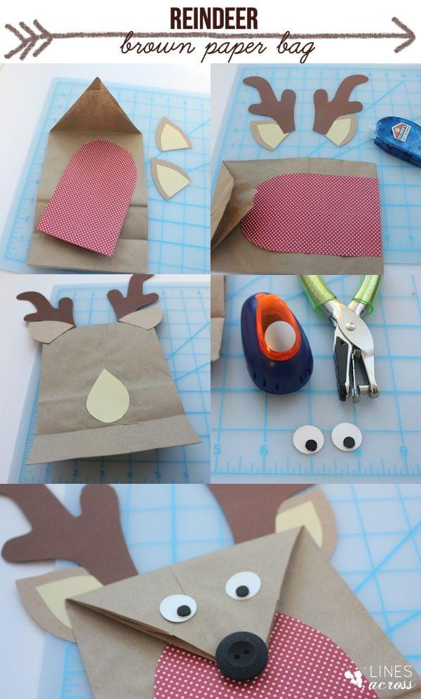 brown paper bag reindeer tutorial