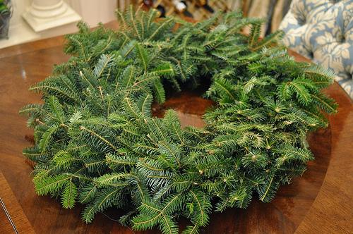 DIY Kitchen Wreath featured on Design Dazzle