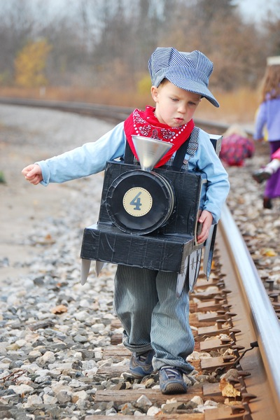 Kids Halloween Costume Ideas that are unbelievable! Here comes the most adorable train conductor!  sc 1 st  Design Dazzle & More Halloween Costume Ideas... - Design Dazzle