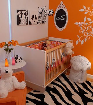 Baby Nursery: Girlie, Orange, Modern & Hip!