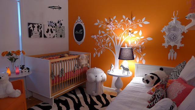 Unique and modern Baby Nursery by Visuale! Love the design that is fresh and bold!