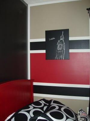 Baby Nursery Black Red And White Design Dazzle