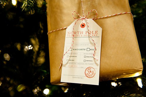 North Pole Delivery Tags featured on Design Dazzle