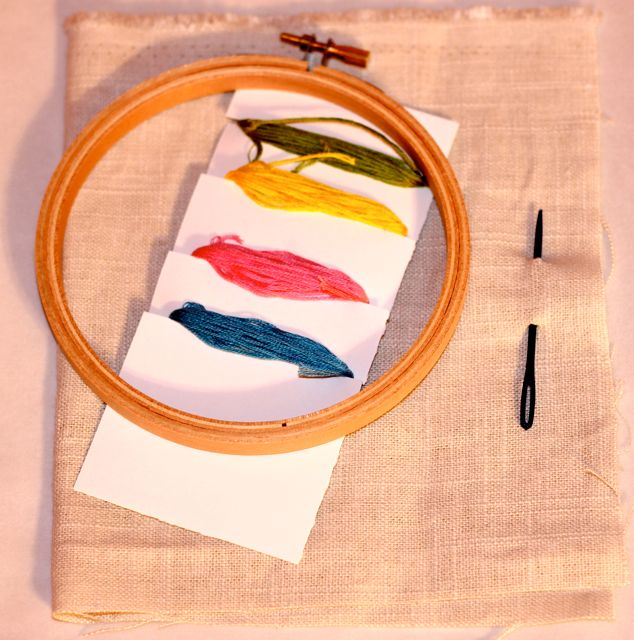 Simple way to make an embroidery transfer