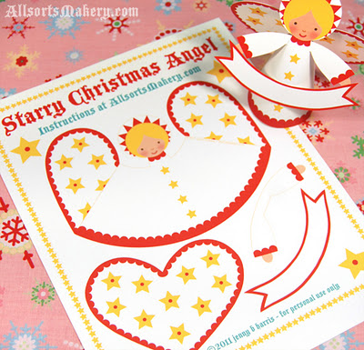 Make a Christmas Angel with this FREE Printable featured on Design Dazzle