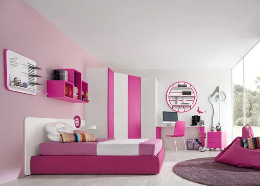 High Quality Love These Bright, Sporty Teen Girls Rooms! Perfect An Athlete Who Needs A  Place. Pink And White Volleyball Room