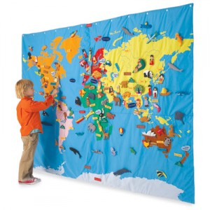 Decorating Kids Rooms With Maps Design Dazzle - World map for kids room