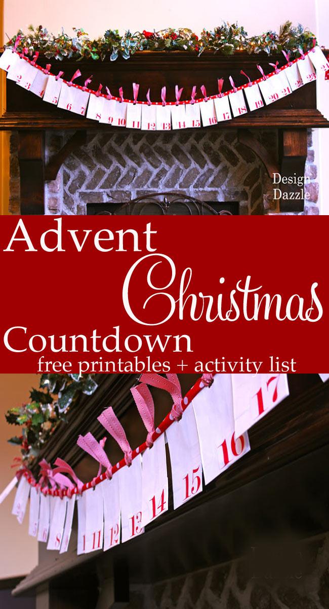 DIY Advent Christmas Countdown Printables & Activity List by Toni Roberts